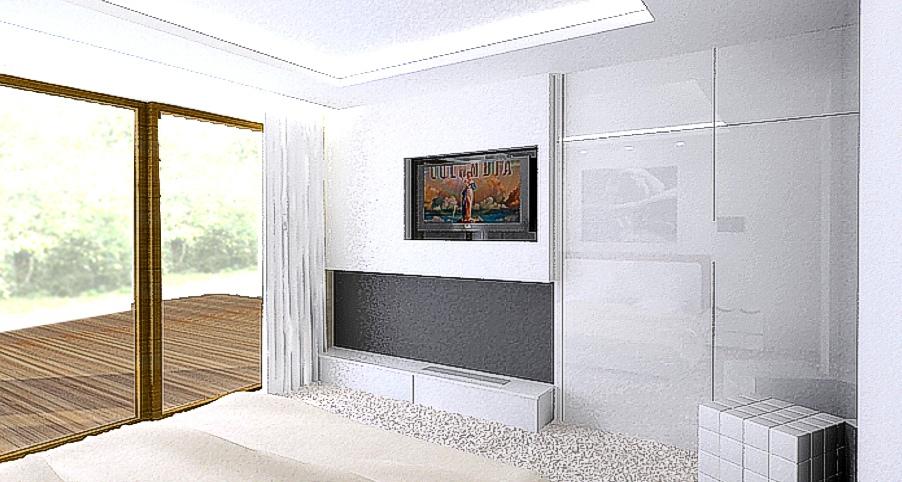 wętrza nowoczesne pokój gościnny
